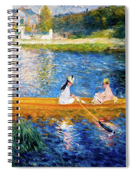 Renoir Boating On The Seine Spiral Notebook