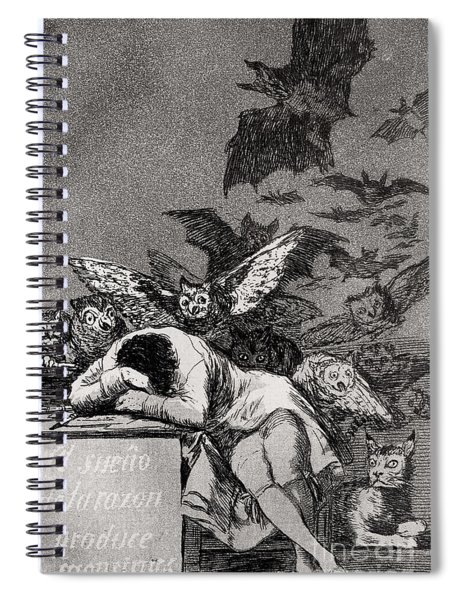 The Sleep Of Reason Produces Monsters Spiral Notebook