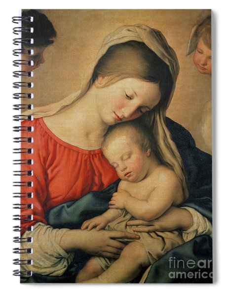 The Sleeping Christ Child Spiral Notebook