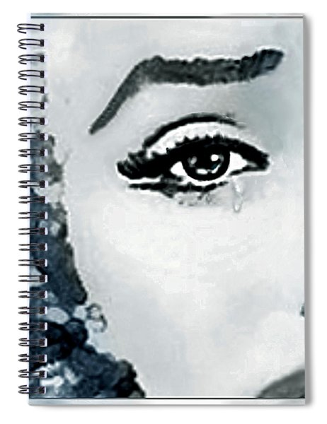 The Sorrow Of Marilyn  Spiral Notebook