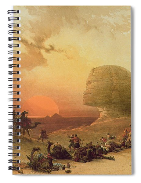The Sphinx At Giza Spiral Notebook