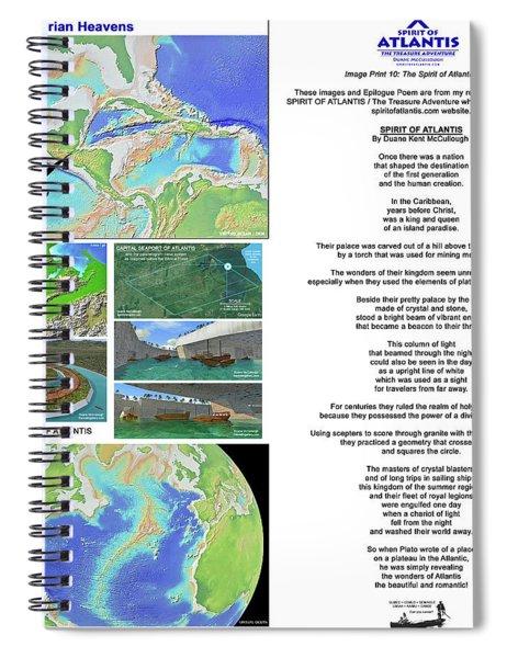 The Spirit Of Atlantis Poem Spiral Notebook