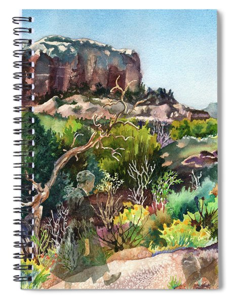 The Spirit Of Ghost Ranch Spiral Notebook