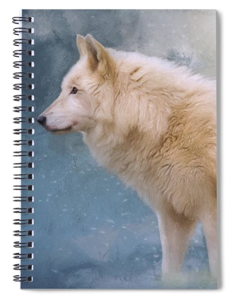 The Spirit Within - Arctic Wolf Art Spiral Notebook