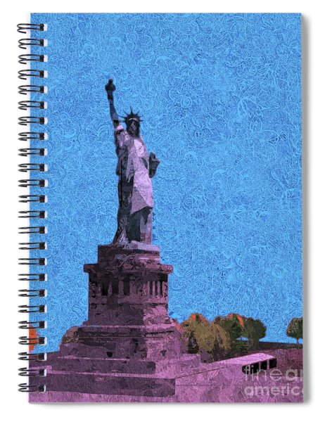 The Statue Of Liberty Island Spiral Notebook