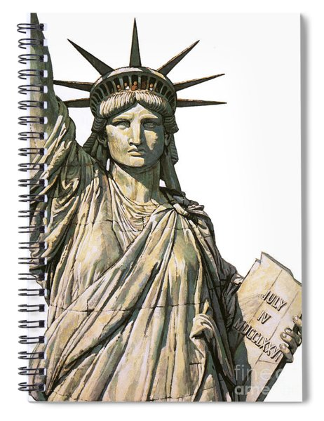 The Statue Of Liberty On Bedloe's Island, New York Spiral Notebook