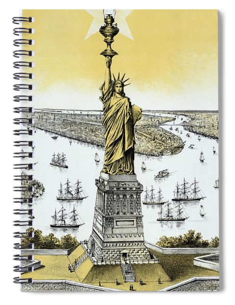 The Statue Of Liberty - Vintage Spiral Notebook