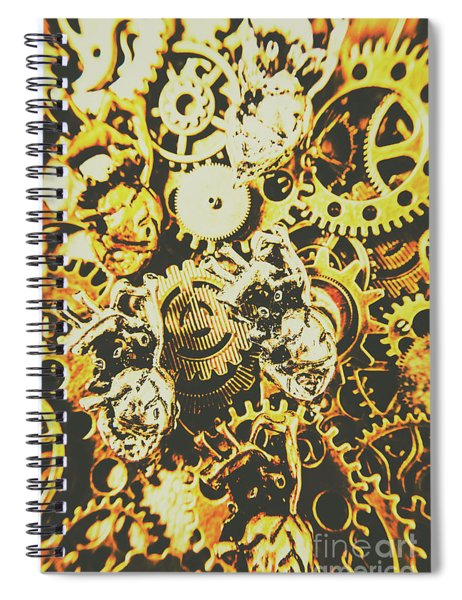 The Steampunk Heart Design Spiral Notebook