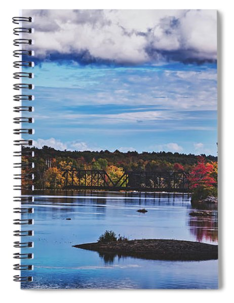 The Stillwater River In Maine Spiral Notebook