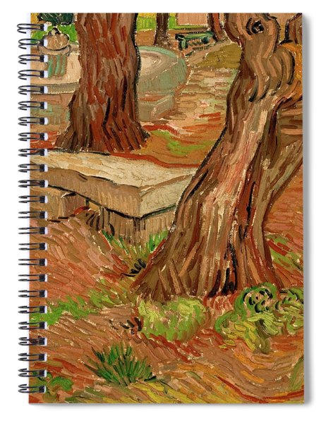 The Stone Bench In The Asylum At Saint-remy Spiral Notebook