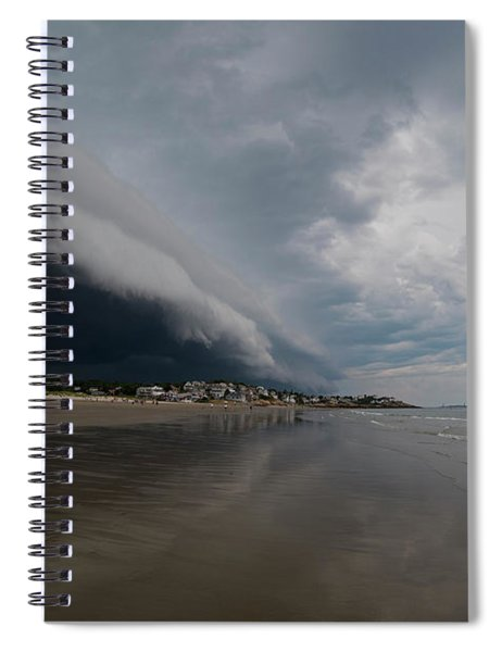 The Storm Rolling In To Good Harbor Beach Gloucester Ma Spiral Notebook