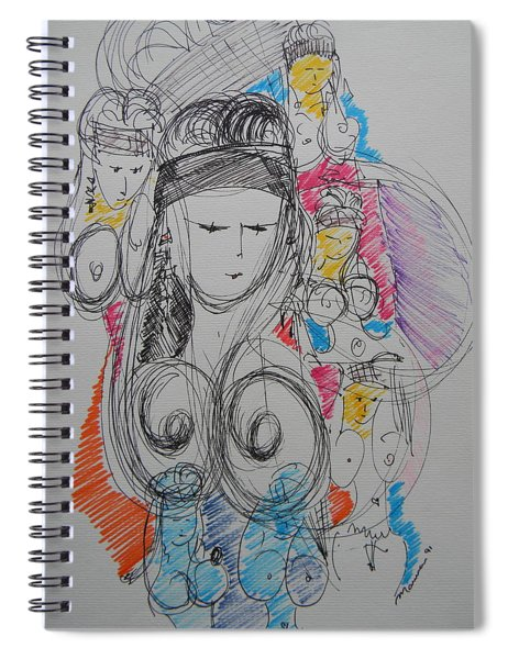 The Stripper's Mirror Spiral Notebook