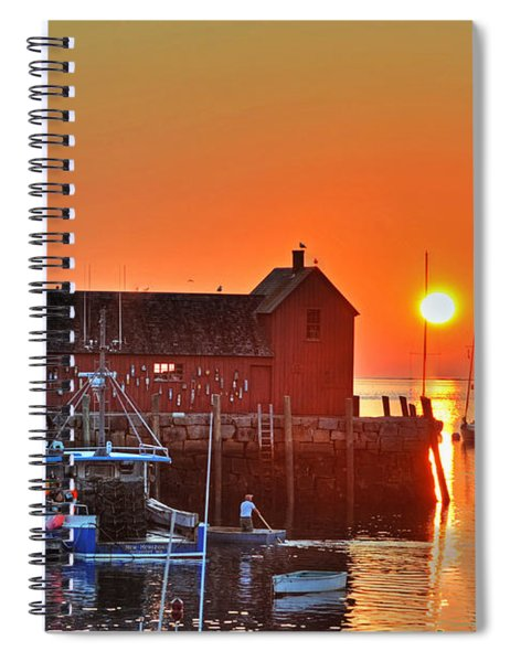 The Sun Rising By Motif Number 1 In Rockport Ma Bearskin Neck Spiral Notebook
