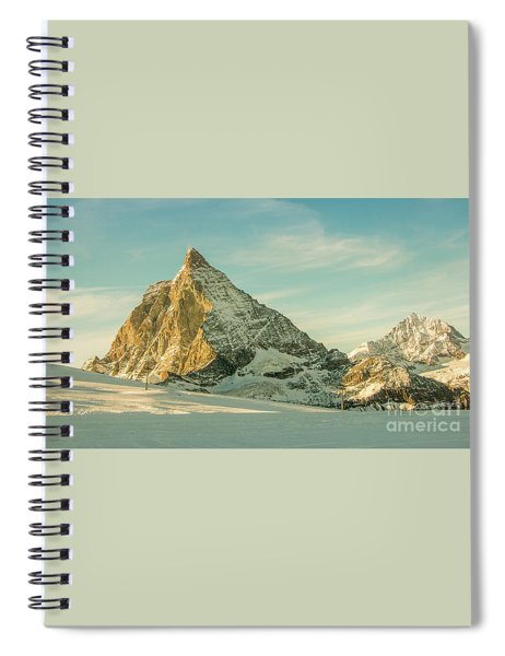 The Sun Sets Over The Matterhorn Spiral Notebook