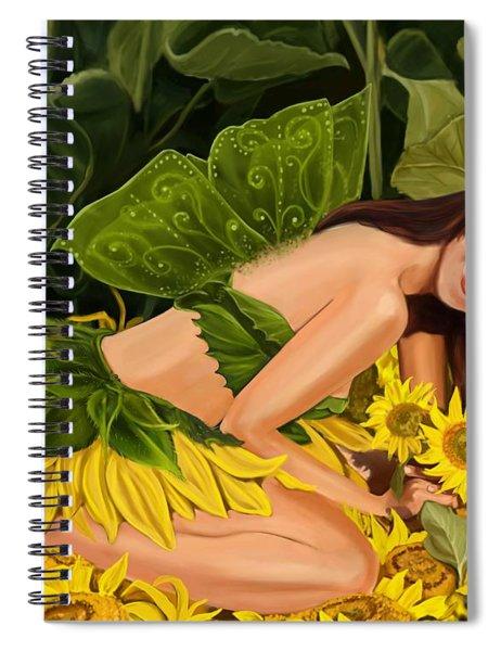The Sunflower Fairy Spiral Notebook