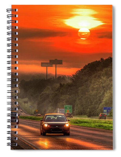 The Sunrise Commute Georgia Interstate 20 Art Spiral Notebook