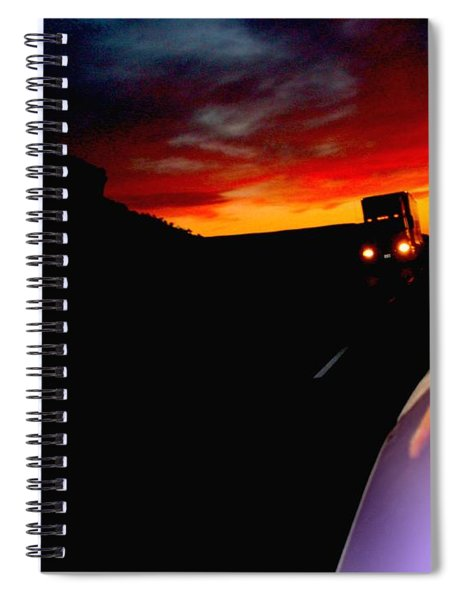 The Sunset Behind Us Spiral Notebook