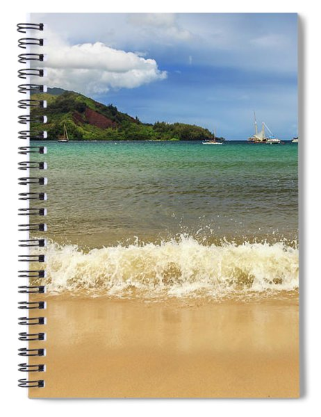 The Surf At Hanalei Bay Spiral Notebook