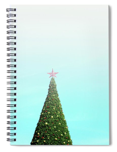The Tallest Christmas Tee- Photograph By Linda Woods Spiral Notebook