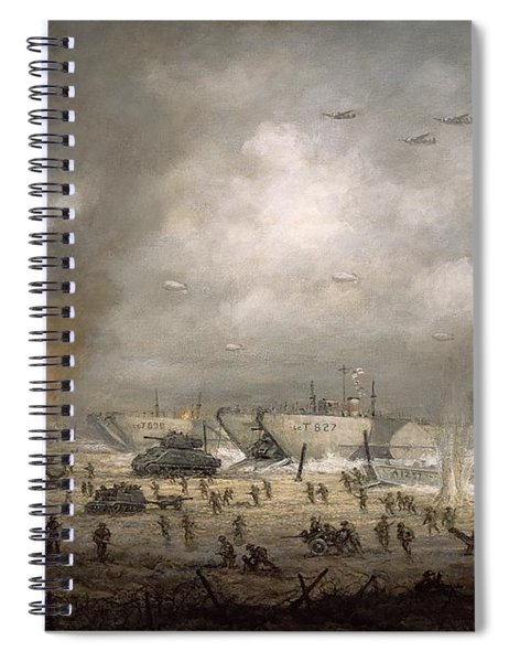 The Tanks Go In - Sword Beach  Spiral Notebook