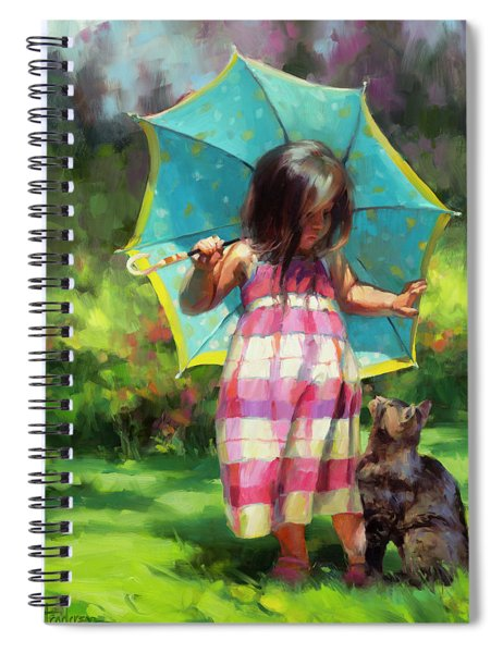 The Teal Umbrella Spiral Notebook