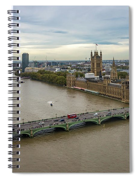 The Thames At Sunset Spiral Notebook