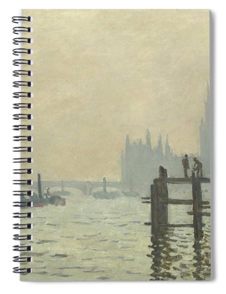 The Thames At Westminster Spiral Notebook