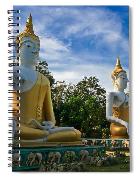 The Three Buddhas  Spiral Notebook
