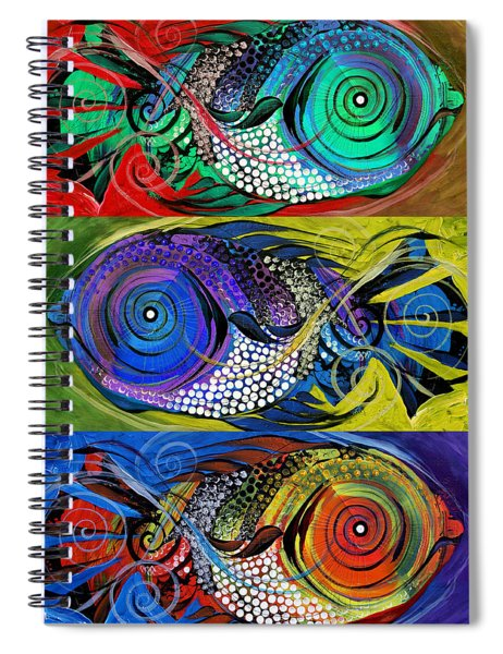 The Three Fishes Spiral Notebook