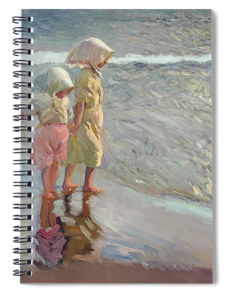 The Three Sisters On The Beach Spiral Notebook