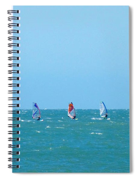 The Three Surfers Spiral Notebook
