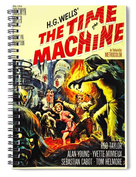 Spiral Notebook featuring the photograph The Time Machine B by Movie Poster Prints