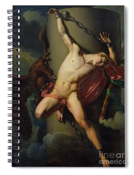 The Torture Of Prometheus Spiral Notebook