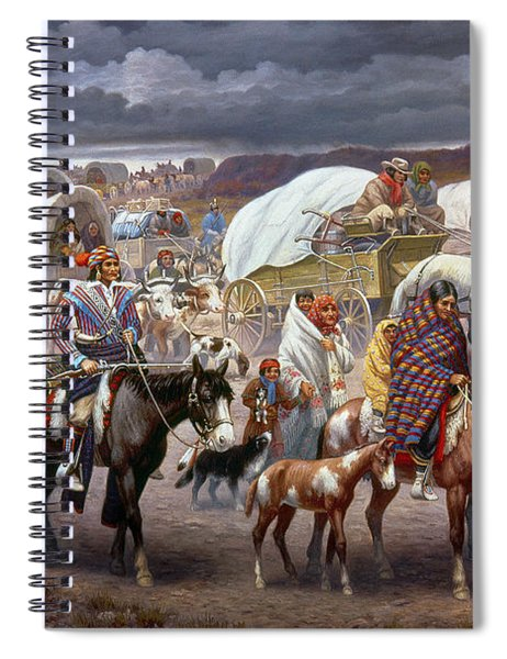 The Trail Of Tears Spiral Notebook