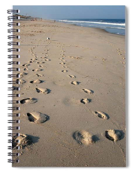 The Trails Of Footprints - Jersey Shore Spiral Notebook