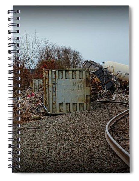 The Train Wreck  Spiral Notebook