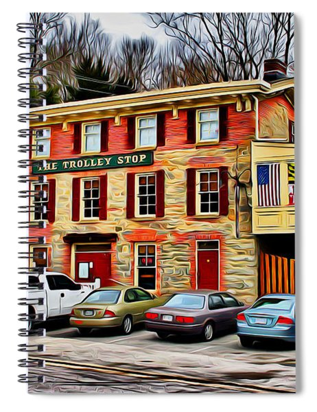 The Trolley Stop Spiral Notebook