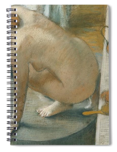 The Tub Spiral Notebook by Edgar Degas