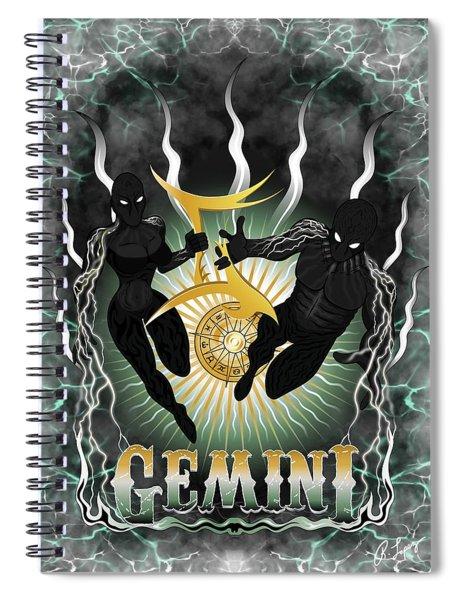 The Twins Gemini Spirits Spiral Notebook