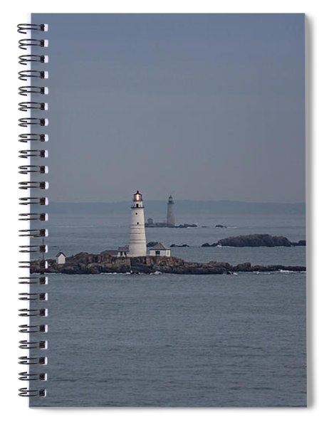 The Two Harbor Lighthouses Spiral Notebook