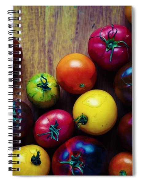 The United Colors Of Tomatoes Spiral Notebook