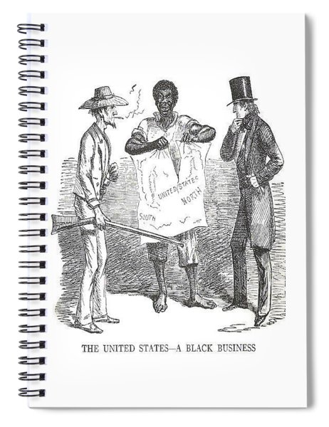 The United States A Black Business Spiral Notebook by ReInVintaged