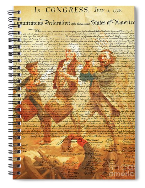 The United States Declaration Of Independence And The Spirit Of 76 20150704v2 Spiral Notebook