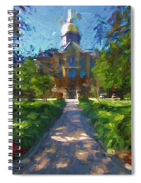 The University Of Notre Dame Spiral Notebook