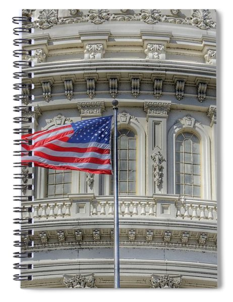 The Us Capitol Building - Washington D.c. Spiral Notebook