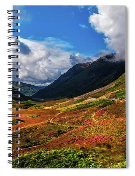 The Valley Of Three Sisters. Glencoe. Scotland Spiral Notebook