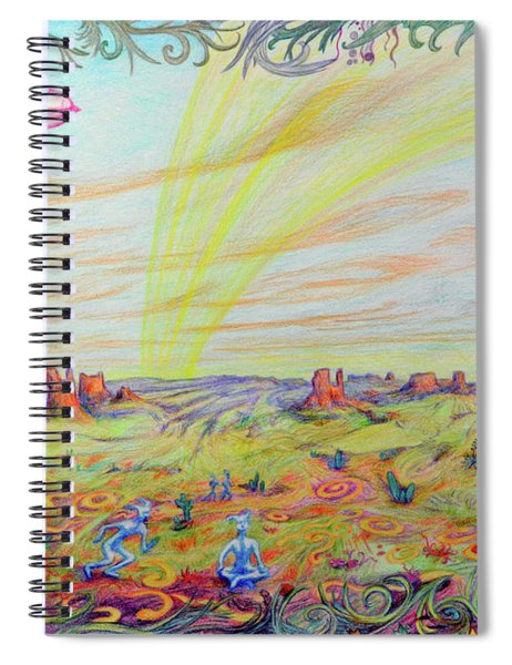The Valley Of Whims Spiral Notebook