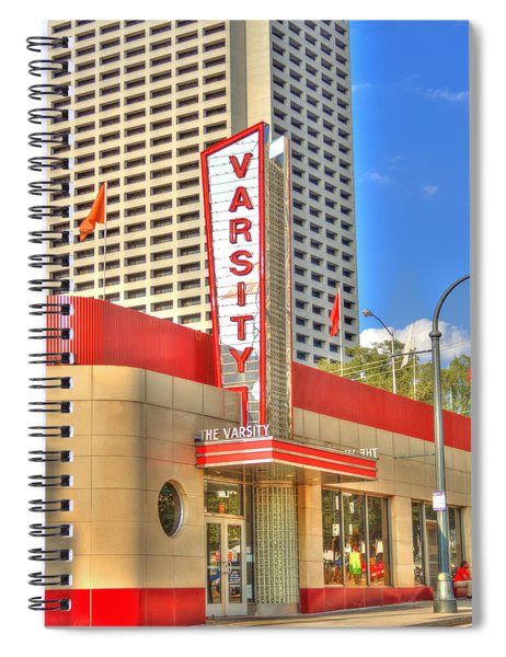 The Varsity Frontdoor Atlanta Georgia Landmark Art Spiral Notebook