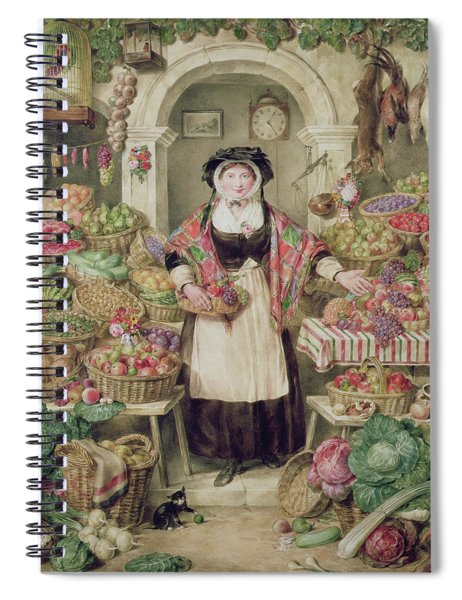 The Vegetable Stall  Spiral Notebook