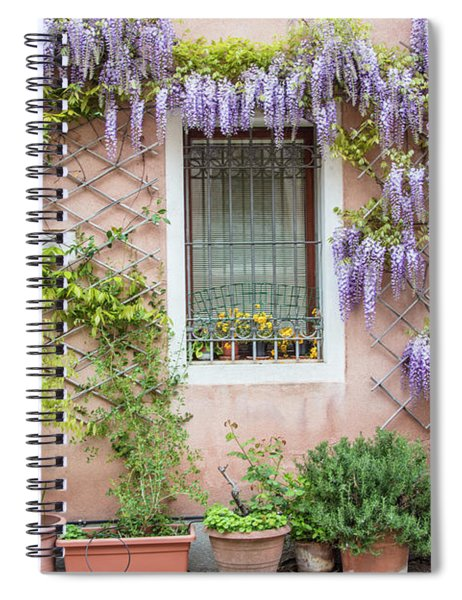 The Venice Italy Window  Spiral Notebook